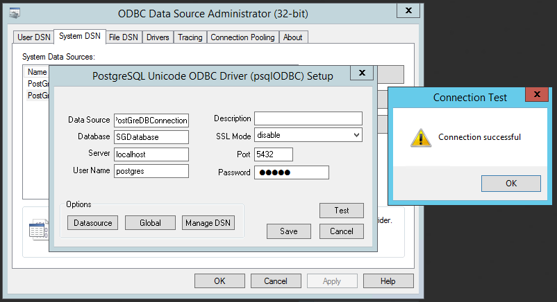Test Database Connectivity from 32-Bit ODBC connector